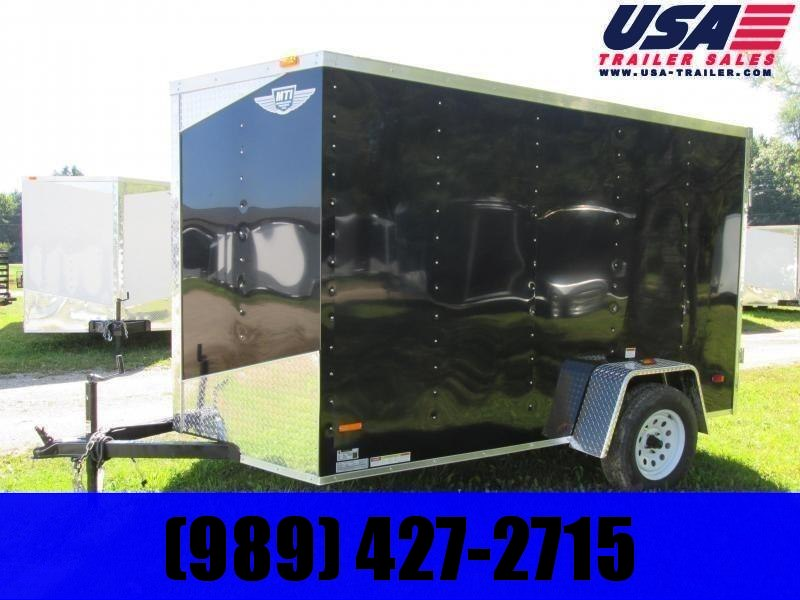 2019 MTI Trailers 6x10 Black Enclosed Cargo Trailer