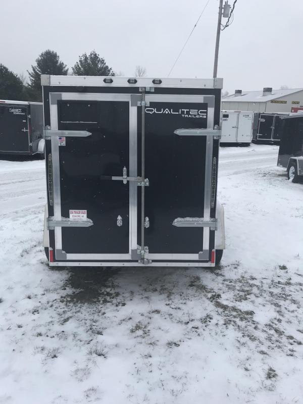 2019 Qualitec 7x16 Black Barn Doors Cargo Trailer