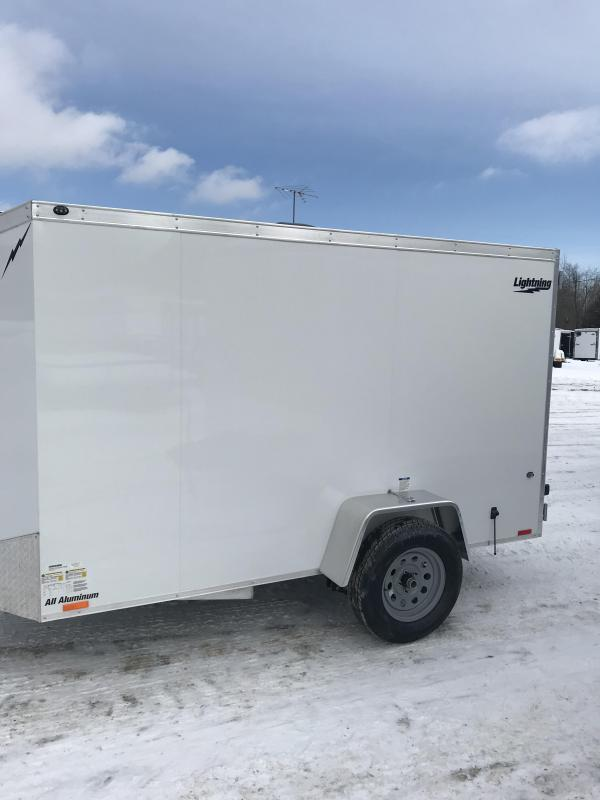 2020 Lightning Trailers 6 x 10 White Barn Enclosed Cargo Trailer