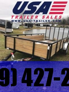 2019 H and H Trailer 6x10 Wood Side High Side Utility Trailer