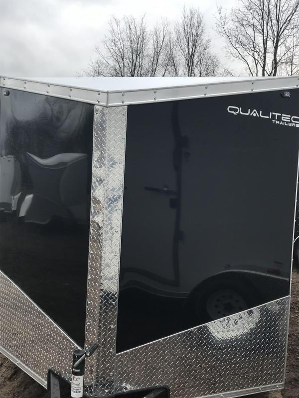 2019 Qualitec 7x14 Black Cargo Trailer