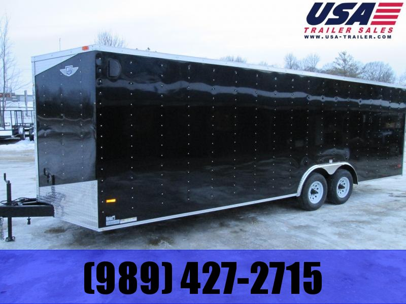 2018 RC Trailers 8.5x28 Black Enclosed Cargo Trailer