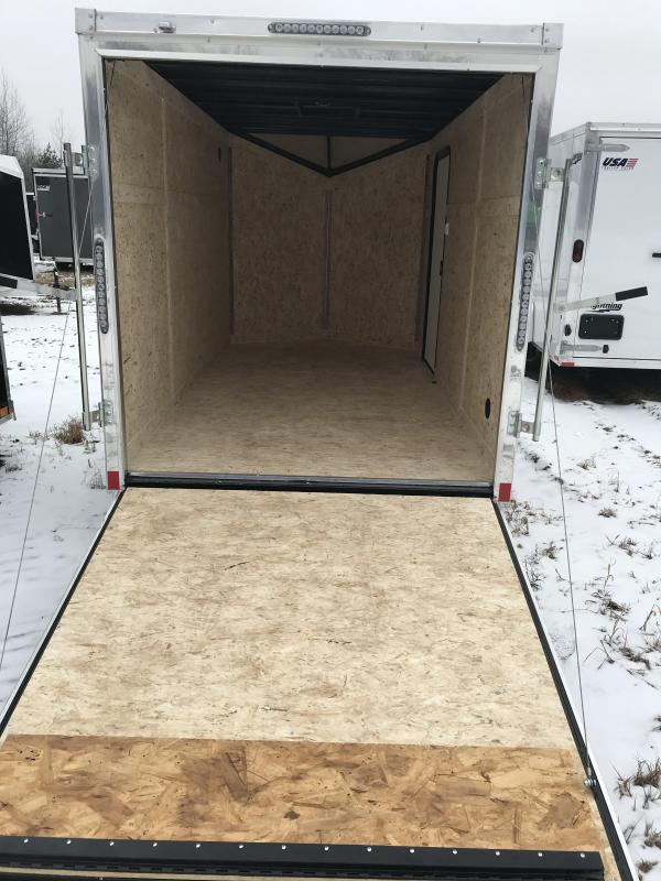 2019 Impact Trailers 6x12 Silver Ramp Enclosed Cargo