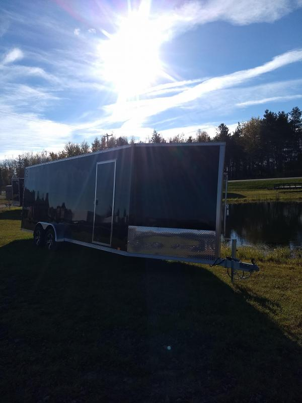 New 7x27 Look Enclosed 4 Place Snowmobile Trailer