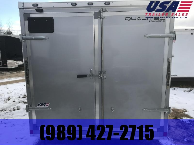 2018 Qualitec 7x16 Silver Barn Door Enclosed Cargo Trailer