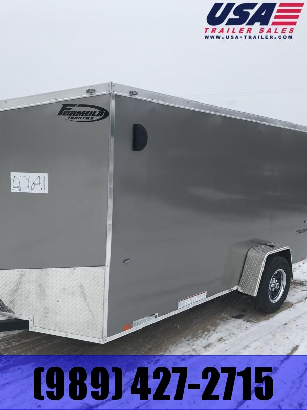 2019 Formula Trailers 6 x 12 Charcoal Ramp Enclosed Cargo Trailer