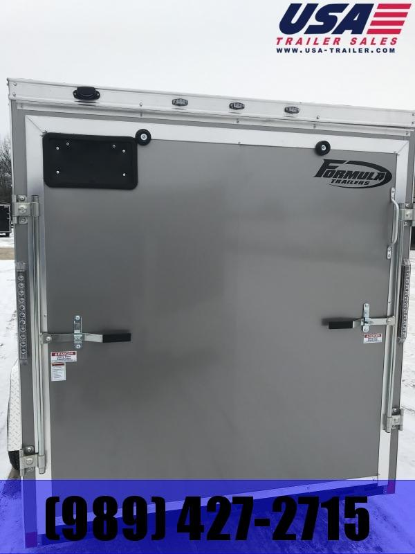 2019 Formula Trailers 6 x 12 Charcoal Ramp Enclosed Cargo Trailer