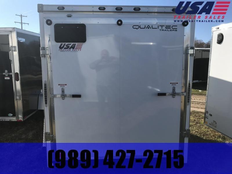 2019 Qualitec 7x16 White Ramp Enclosed Cargo Trailer