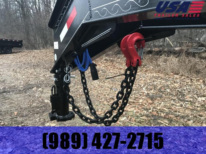 2019 Load Trail 40 Goose Max Ramps Equipment Trailer
