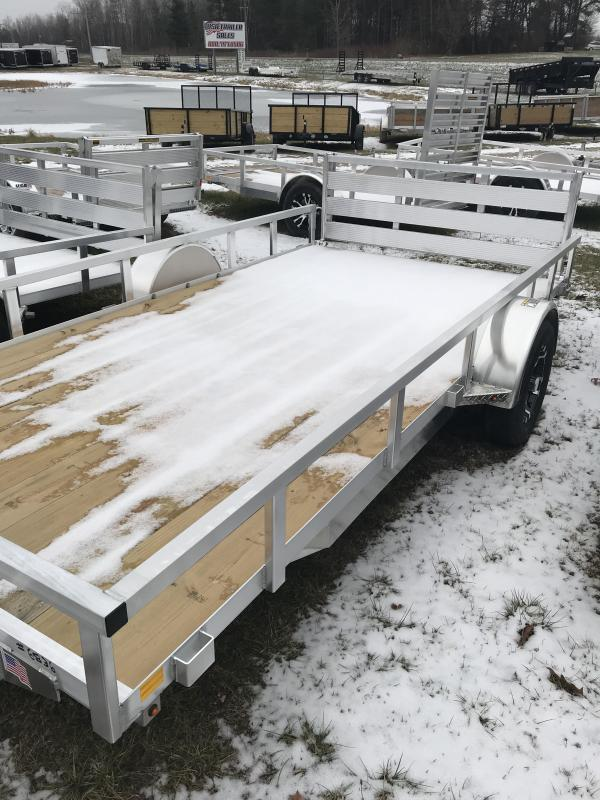 2019 H and H Trailer 82x14 Aluminum with Bifold Utility Trailer
