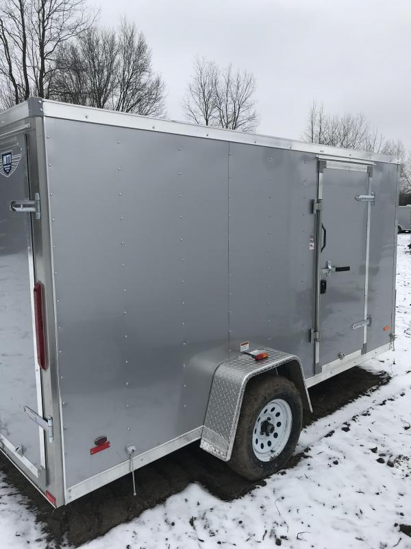 2019 MTI Trailers 5 x 8 Silver Barn Doors Enclosed Cargo Trailer