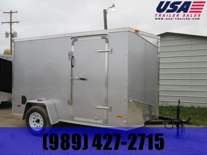 2019 MTI Trailers 5 x 8 Silver Barn Doors Enclosed Cargo Trailer