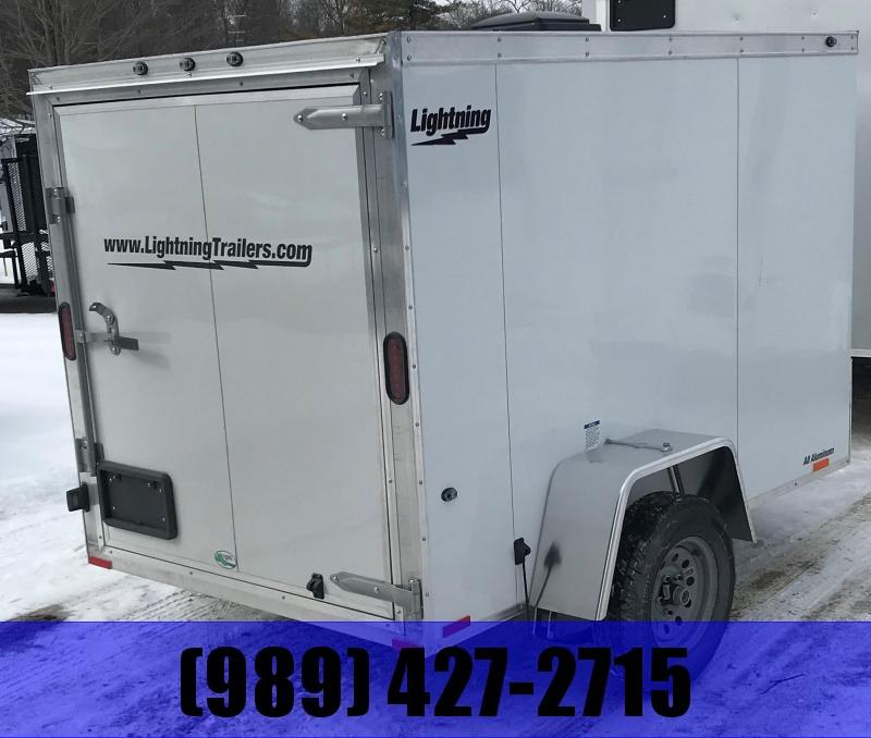 2020 Lightning Trailers 5 x 8 White Barn Enclosed Cargo Trailer