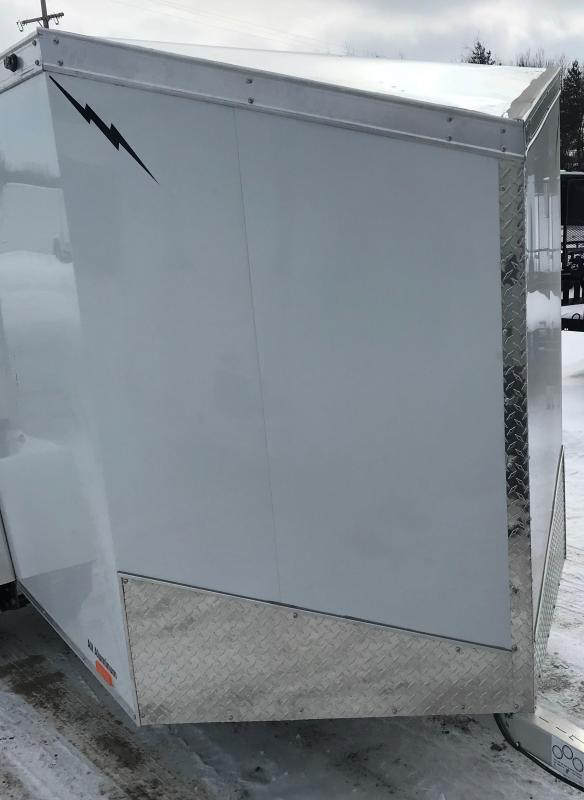 2020 Lightning Trailers 5 x 8 White Barn Enclosed Cargo Trailer
