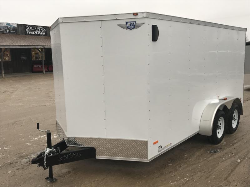 2019 MTI Trailers 7 x 14 White Ramp USA Enclosed Cargo Trailer