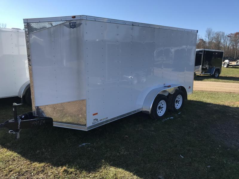 2018 MTI Trailers 7x16 White Ramp Enclosed Cargo Trailer