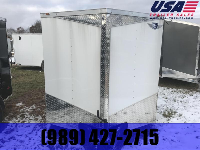 2018 MTI Trailers 7x16 White Ramp Enclosed Cargo Trailer