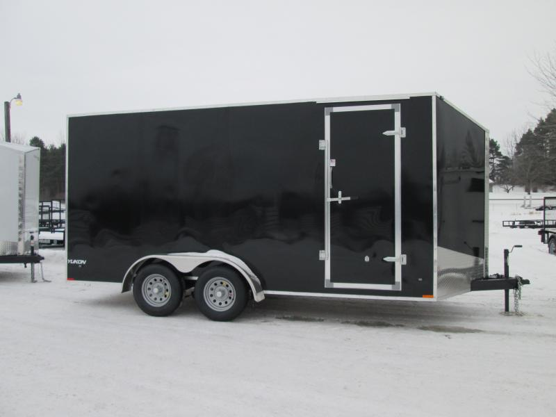 2019 Qualitec 7x14 Black Barn Doors Enclosed Cargo Trailer