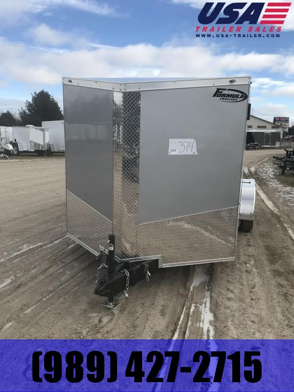 2019 Formula Trailers 7x14 Silver Ramp Enclosed Cargo Trailer