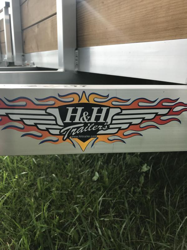 2019 H and H Trailer Aluminum 76x10  Woodside Landscape