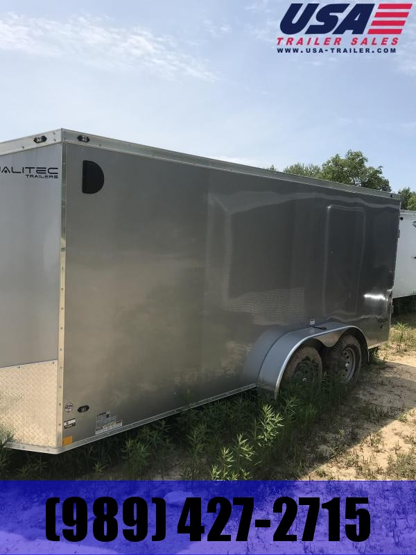 2019 Qualitec 7x20 Ramp Silver added Height Enclosed Cargo Trailer
