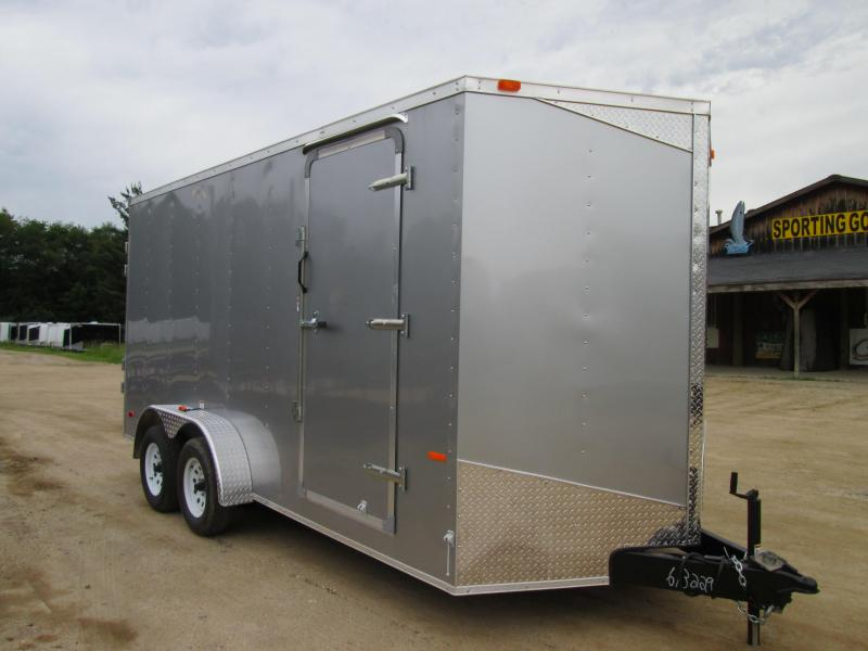 2019 MTI Trailers 7x14 Silver Ramp Enclosed Cargo Trailer