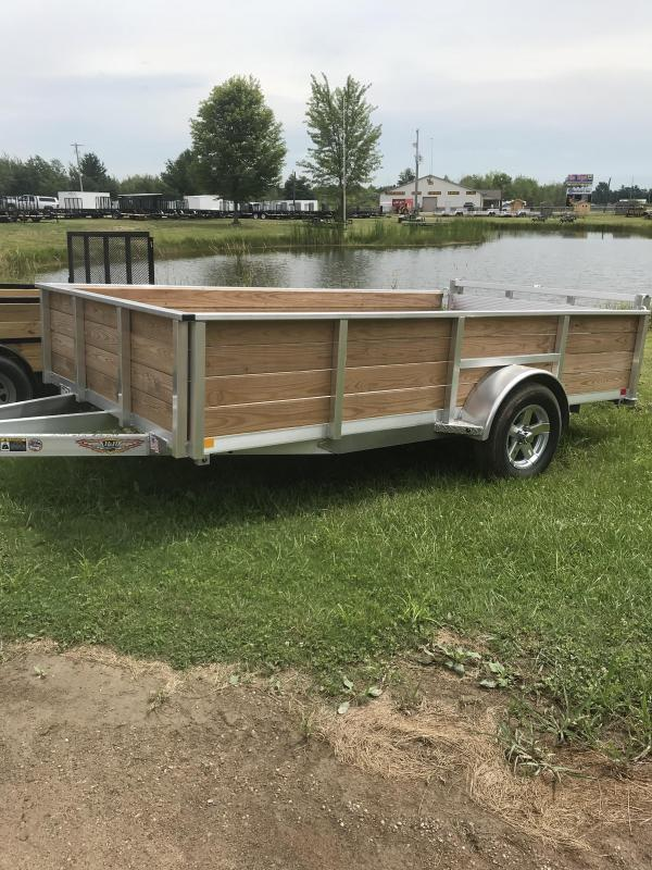 2018 H and H Aluminum Wood Sided Utility Trailer