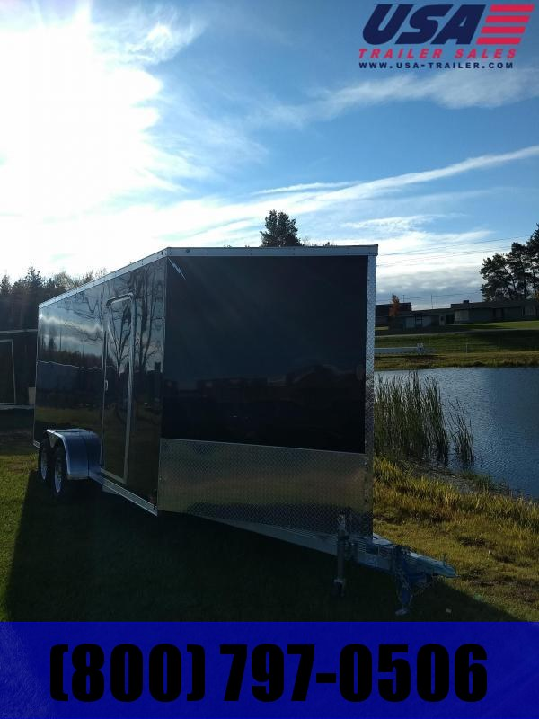 New 7x23 Three Place V-Nose Snowmobile Trailer Extra Height