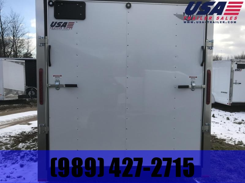 2019 MTI Trailers 7x16 White Ramp added height Enclosed Cargo Trailer