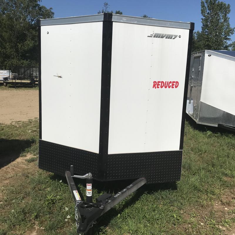 2018 MVM7 6x12 White Ramp Enclosed Cargo Trailer