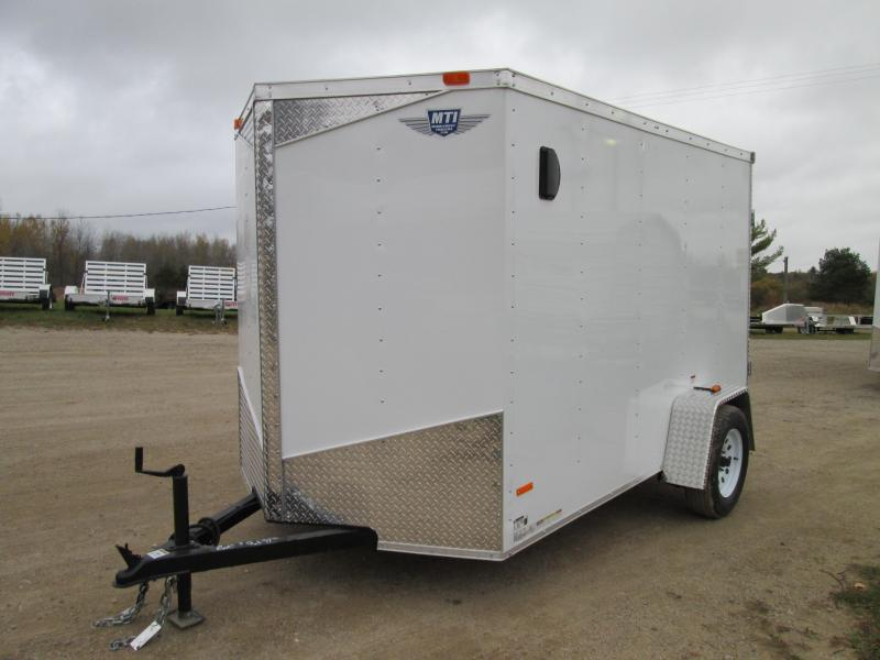 2019 MTI Trailers 6x10 White Barn Door Enclosed Cargo Trailer