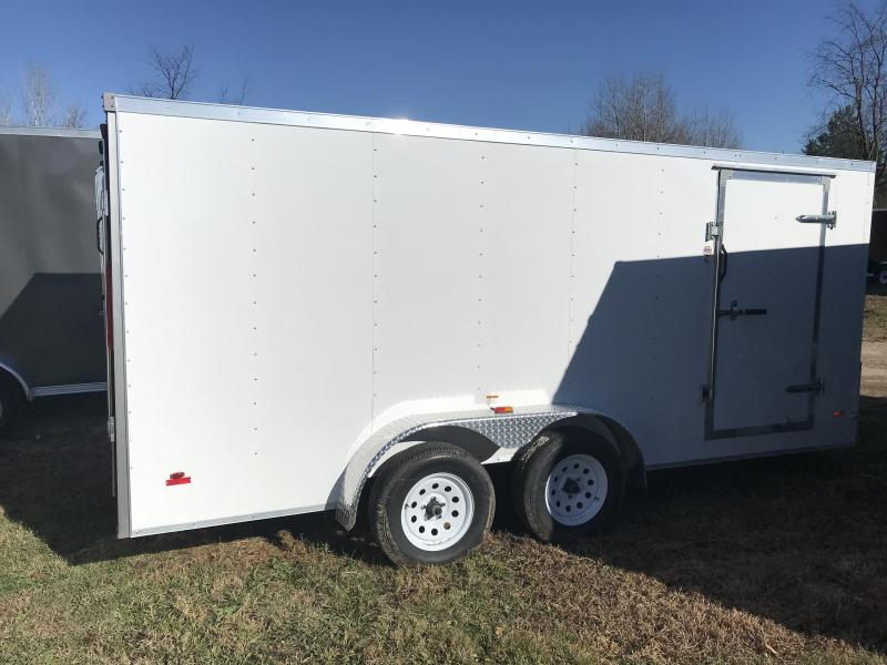 2018 MTI Trailers 7x14 White Barn Doors Enclosed Cargo Trailer