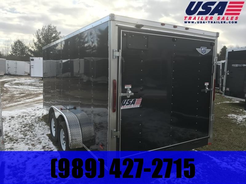 2020 MTI Trailers 7x16 Black Ramp Enclosed Cargo Trailer