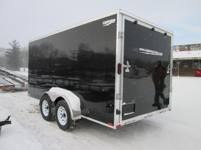 2019 Lightning Trailers 7x16 Black Ramp Enclosed Cargo Trailer