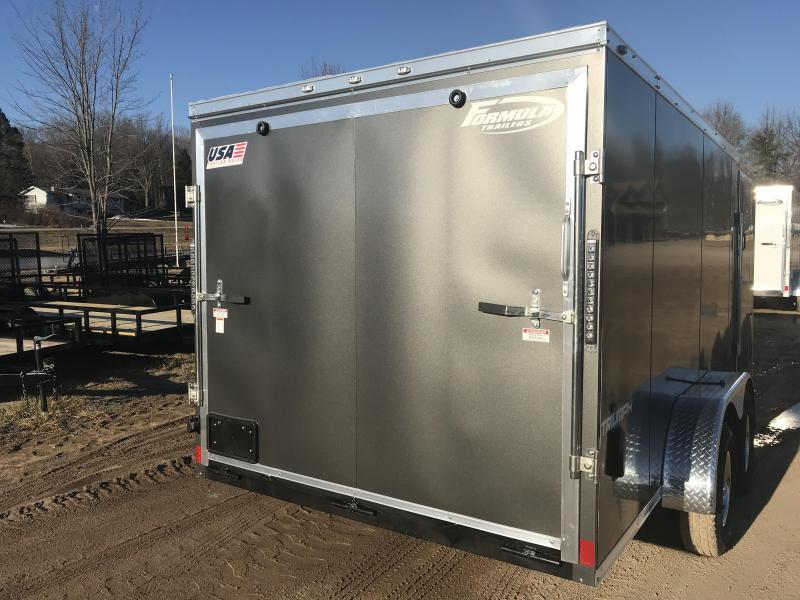 2020 Formula Trailers 7X14 RAMP CHARCOAL Enclosed Cargo Trailer