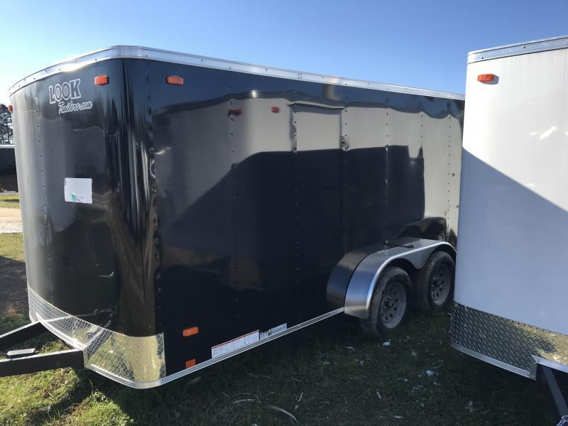 2019 Look Trailers 6x12 Black Barn doors Enclosed Cargo Trailer