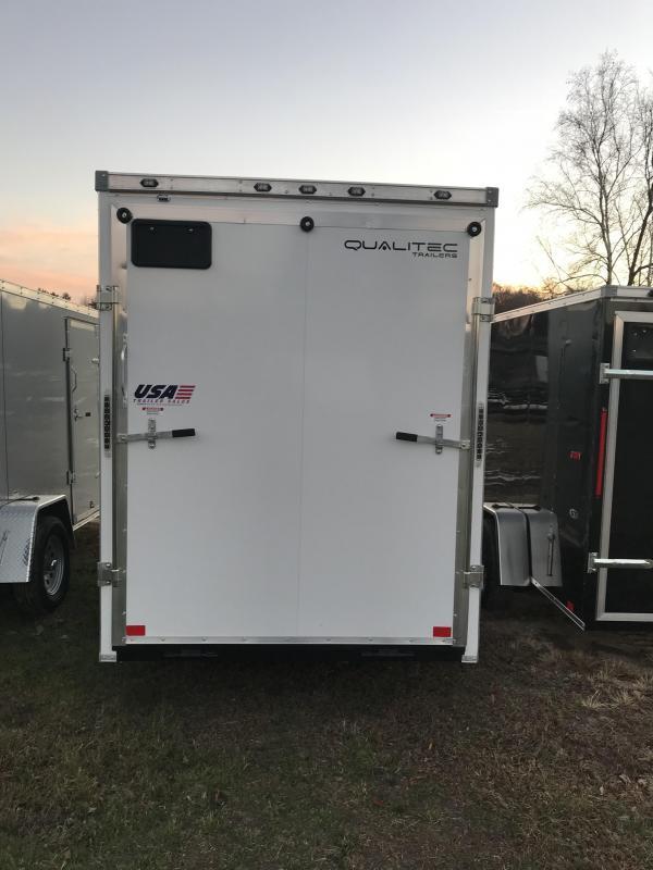 2019 Qualitec 8.5 x 18 White Ramp Enclosed Cargo Trailer