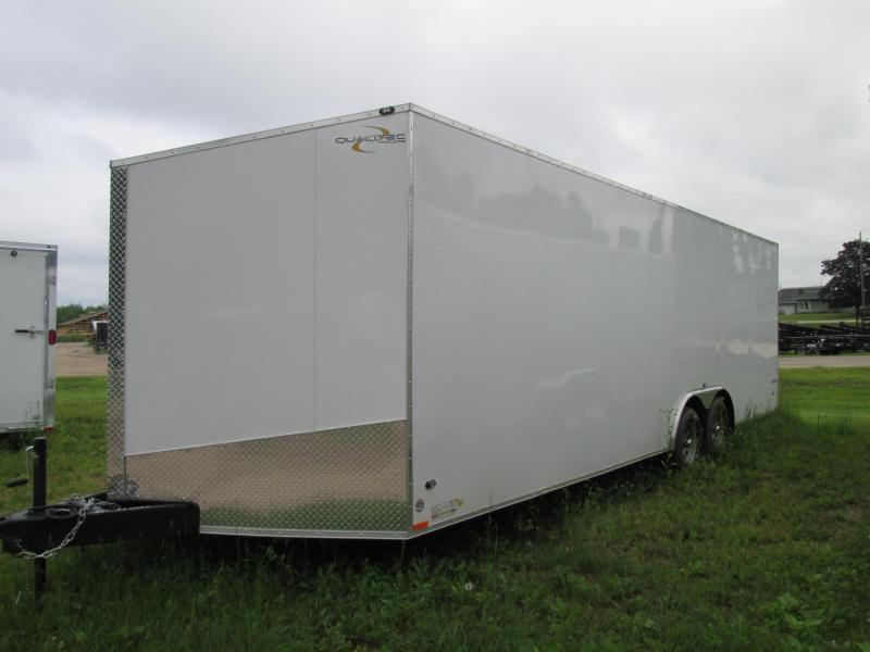2019 Qualitec 8.5 x 20 White Car / Racing Trailer
