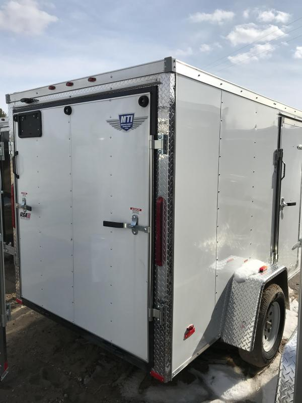 2019 MTI Trailers 5x10 White Ramp Enclosed Cargo Trailer
