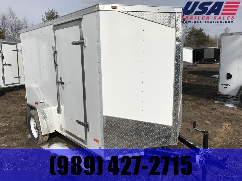 2019 MTI Trailers 5x10 White Ramp Enclosed Cargo Trailer