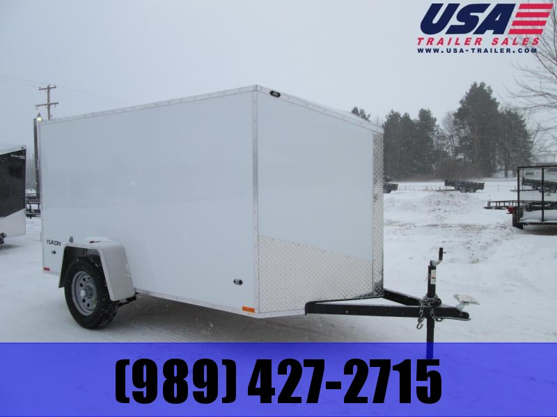2019 Qualitec 5x8 white dbl doors Enclosed Cargo Trailer