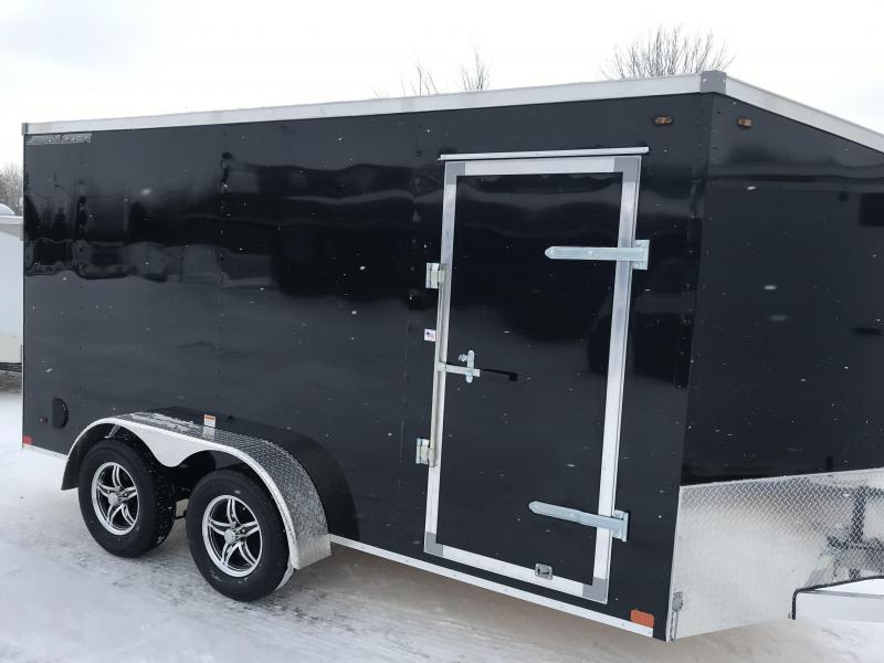 2019 MVM7 7 x 14 Black Ramp Enclosed Cargo Trailer