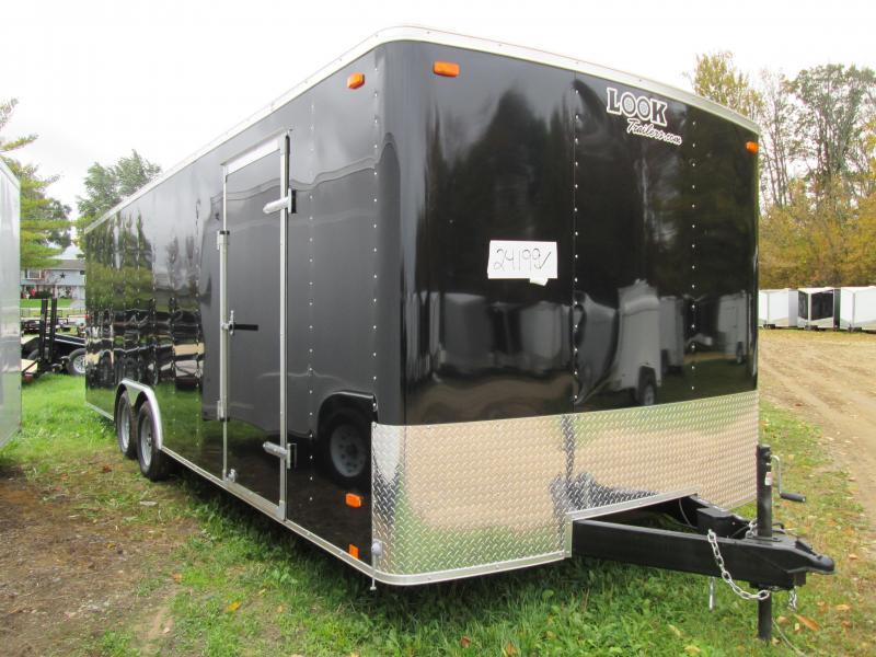 2019 Look Trailers 7x14 Black ramp door Enclosed Cargo Trailer