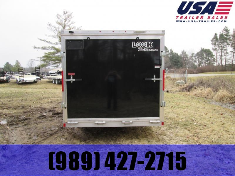 2019 Look Trailers 7x14 Black ramp door Enclosed Cargo Trailer