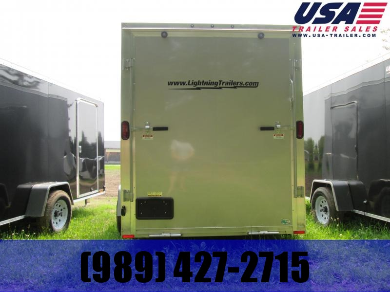 2019 Lightning Trailers 6x12 pewter ramp Utility Trailer