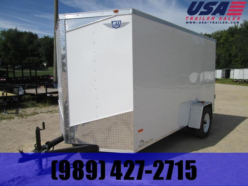 2019 MTI Trailers 5X10 White Swing Door Enclosed Cargo Trailer