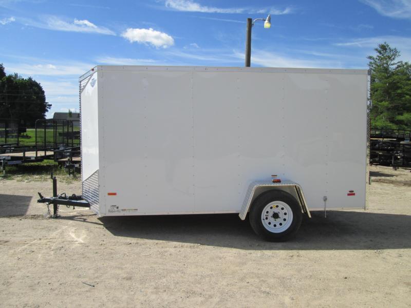 2019 MTI Trailers 5X10 White Swing Door Enclosed Cargo Trailer