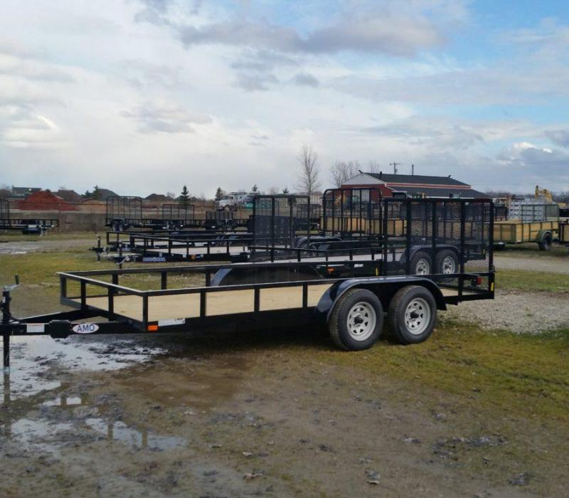 6 x 16 A.M.O. Landscape Trailer with lift assist