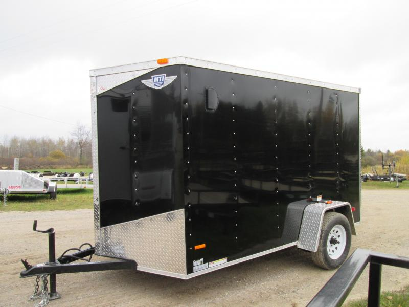 2019 MTI Trailers 6x10 Black Ramp Door Enclosed Cargo Trailer