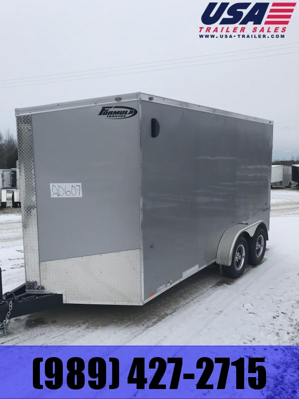 2019 Formula Trailers 7x14 Silver Ramp 12 Enclosed Cargo Trailer